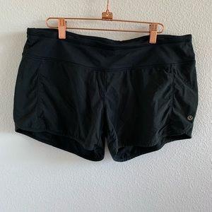 Lululemon Solid Black Speed Shorts   10